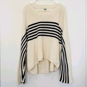 Aerie - High/Low Drop Shoulder Bell Sleeve Sweater